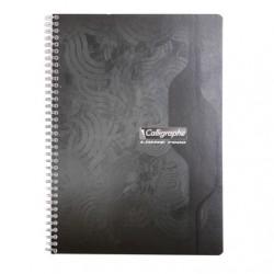 Cahier spirales Calligraphe 180p - A4 - 70 g - Petits carreaux
