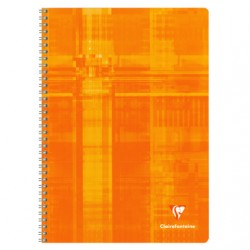 Cahier Spirales Clairefontaine 100 pages - A4 - 90g - Grands carreaux