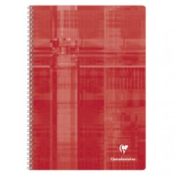 Cahier Spirales Clairefontaine 100 pages - A4 - 90g - Petits carreaux