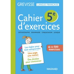 Français 5e Grevisse - Cahier d'exercices - 2018 - Magnard
