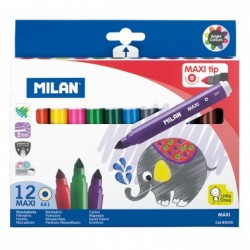Pochette de 12 feutres Maxi Milan