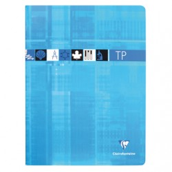 Cahier TP Clairefontaine 80 pages - 24*32 - 90 / 125 g - Piqué - Grands Carreaux