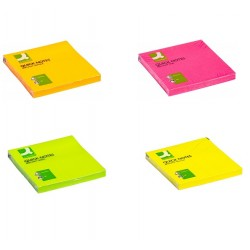 Paquet de Post-it 76*76 Fluo Q-Connect