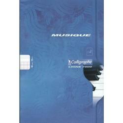 Cahier de Musique Calligraphe 48 pages - A4 - 70g - Piqué - Grands Carreaux