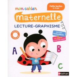Mon cahier maternelle - PS - Lecture Graphisme - 2016 - Nathan