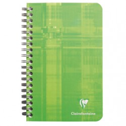 Carnet Spirales Clairefontaine 100 pages - 11*17 - 70g - Petits Carreaux