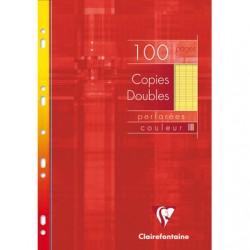 Copies doubles Clairefontaine - A4 - Jaunes - 100p - Séyès - 90g - Perforées