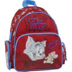 Mini Sac à dos Tom et Jerry 14129 Rouge - Maternelle - Graffiti