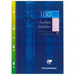 Feuilles simples Clairefontaine - A4 - Roses - 100p - Séyès - 90g - Perforées
