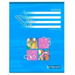 Cahier de Dessin Calligraphe 32 pages - 17x22 - 90g - Piqué