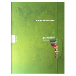Cahier de Dessin Calligraphe 48 pages - 24*32 - 120g - Piqué