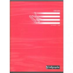 Cahier de Dessin Calligraphe 96 pages - 24*32 - 120 g - Piqué