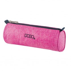 Trousse Ronde Polo Big Roll - Tissu Rose