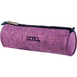 Trousse Ronde Polo Big Roll - Tissu Violet