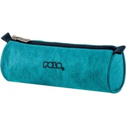 Trousse Ronde Polo Big Roll - Tissu Turquoise