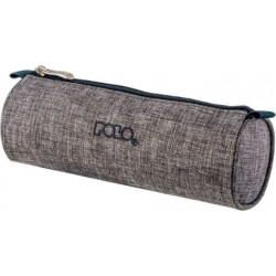 Trousse Ronde Polo Big Roll - Tissu Gris