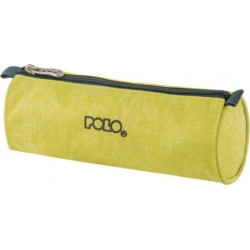 Trousse Ronde Polo Big Roll - Tissu Jaune