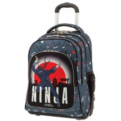 Cartable à roulettes Polo Glow Ninja - 3 Poches