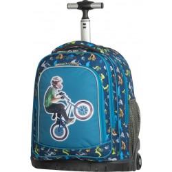 Cartable à roulettes Polo Bike Kid - 2 Poches